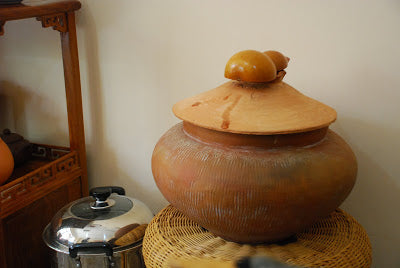 Mark's water container & serving gourd