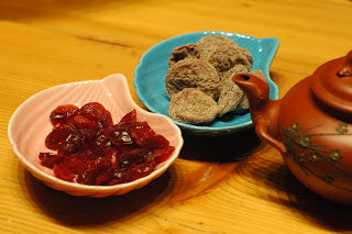 Dried cranberry & preserved plum tea snacks