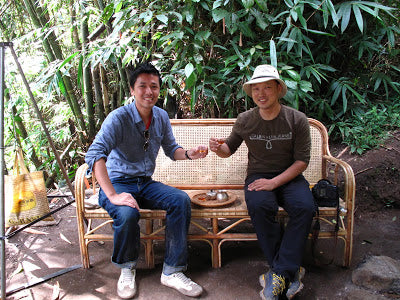 Drinking cha gao with Chong Kwongwon, Nannuo, October 2011