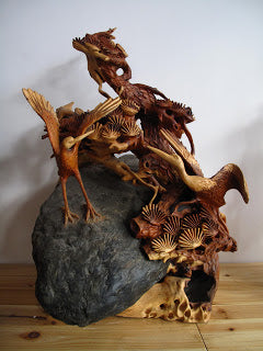 Amazing sculpture carved from tree roots
