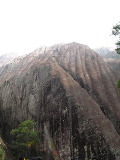The sheer limestone cliffs of Wuyishan