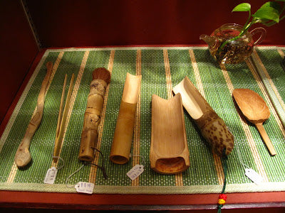 Lock Cha's selection of bamboo tea accessories