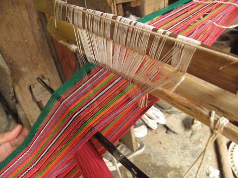 Traditional Shuttle Loom, Yanuo village, Youle mountain, Yunnan