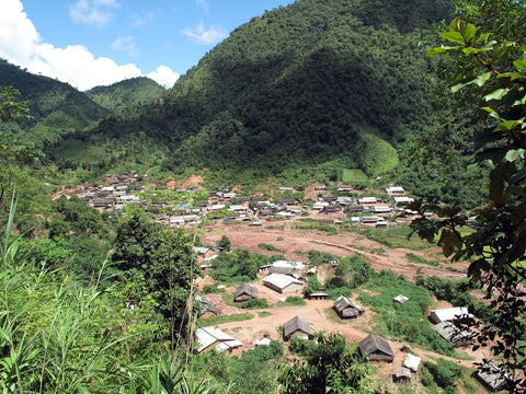 The village of Gua Feng Zhai, along the Laos border with China