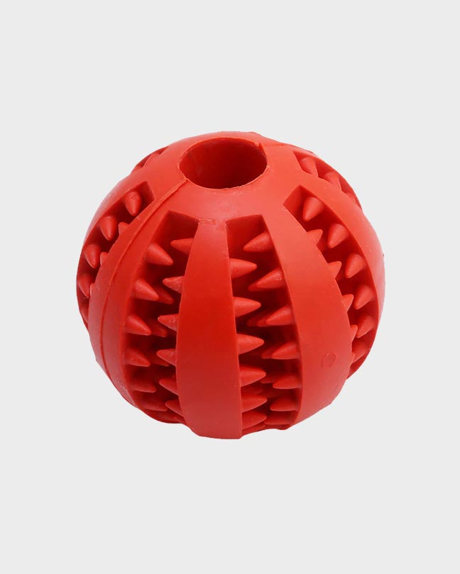 Yellow Rubber Treat Dispensing Ball