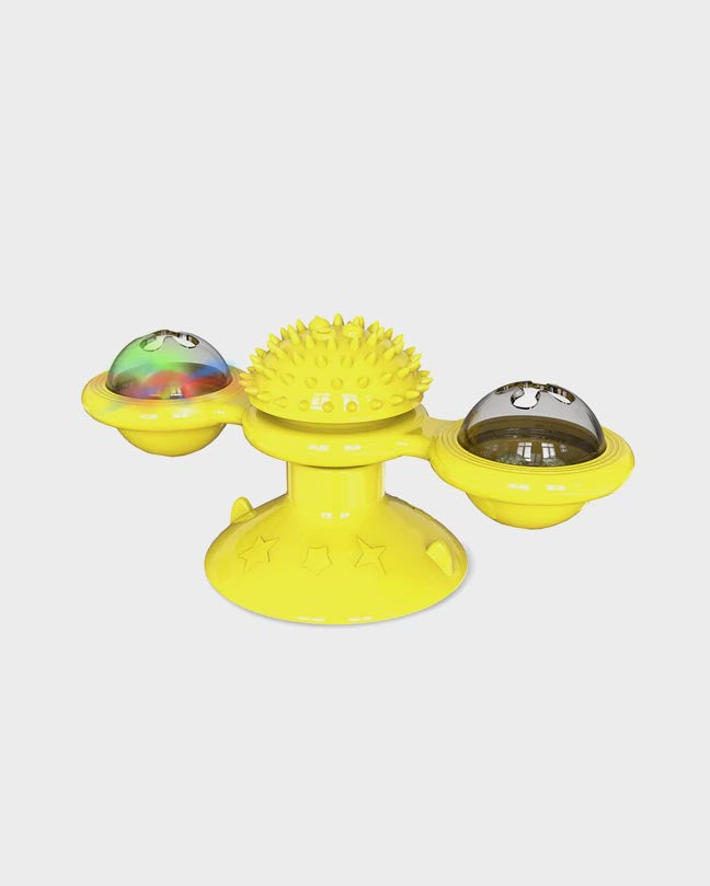 Green Rotatable Pet Massage Toy