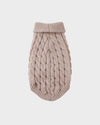 Beige Knitted Pet Sweater