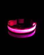 Pink Glow in the Dark Pet Collar