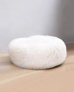 Dark Gray Plush Round Pet Cushion
