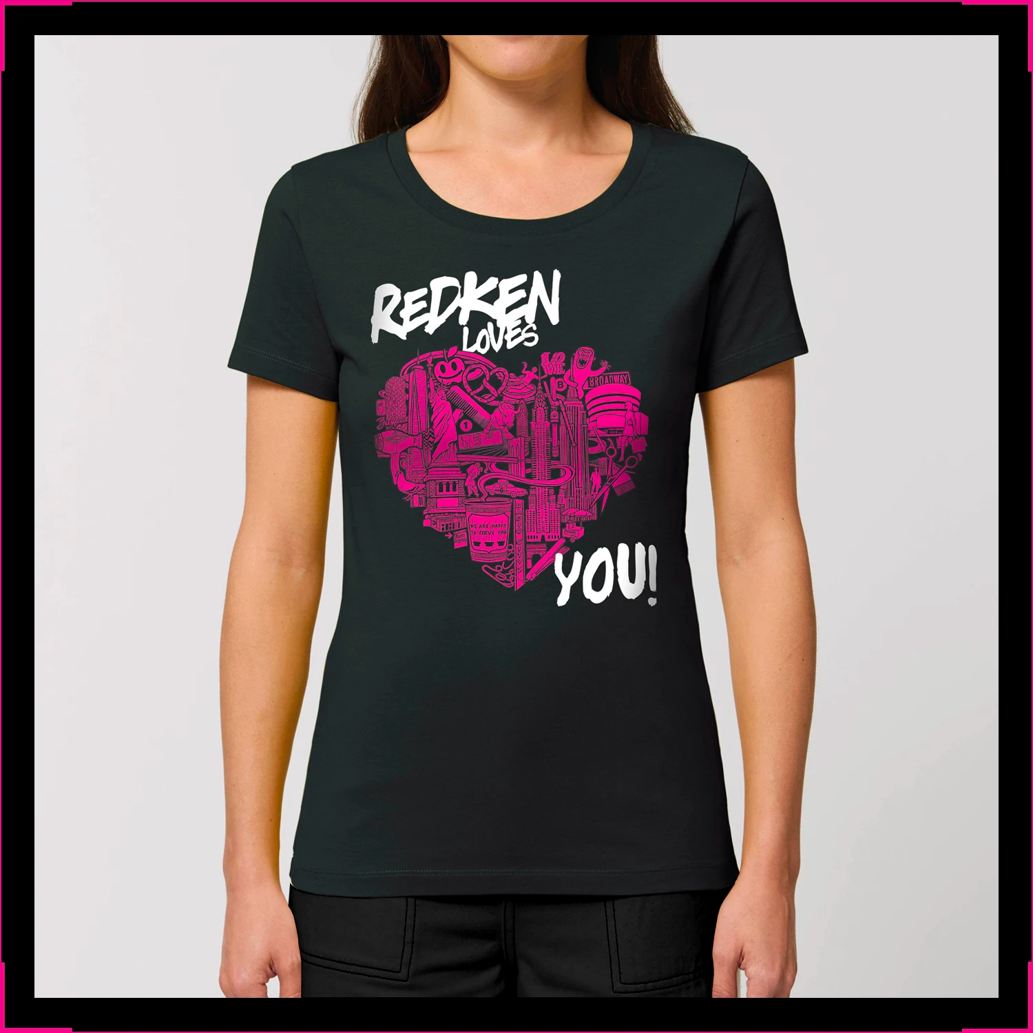T-shirt Womens Redken Loves You