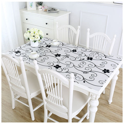 Floral Clear Anti-Oil Proof Table Cover
