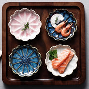 Creative Small Dish Ceramic Japanese Flower Plate Cultery