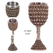 Horrible Resin Stainless Steel Retro Claw Wine Glass