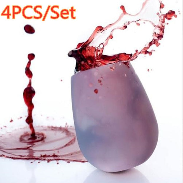 4pcs Shatterproof Silicone Party Cups