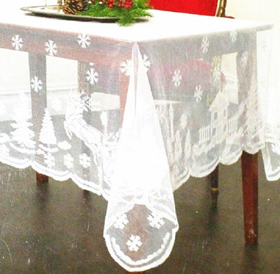 Rectangle Lace Snowflake Table Cover