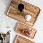 Square Rectangle Wood Serving Tray