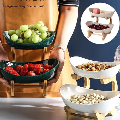 Two-layer Fruit Creative Modern Dried Bowl