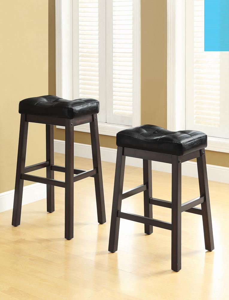Transitional Black Counter-Height  Upholstered Chair image