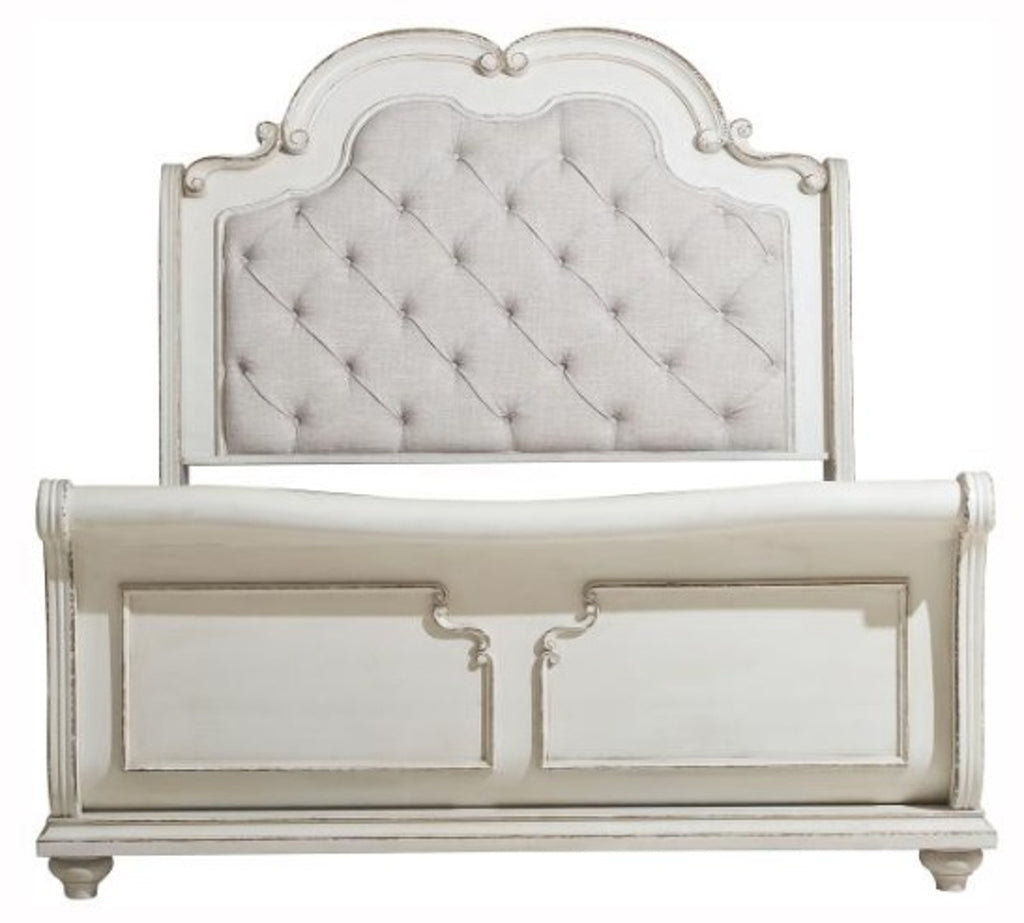 Homelegance Willowick Queen Sleigh Bed in Antique White 1614SL-1* image