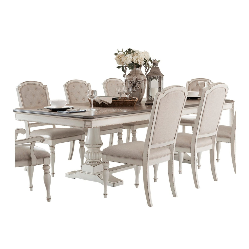 Homelegance Willowick Dining Table in Antique White 1614-108* image