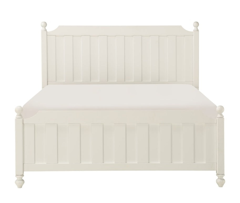 Homelegance Wellsummer Full Panel Bed in White 1803WF-1* image