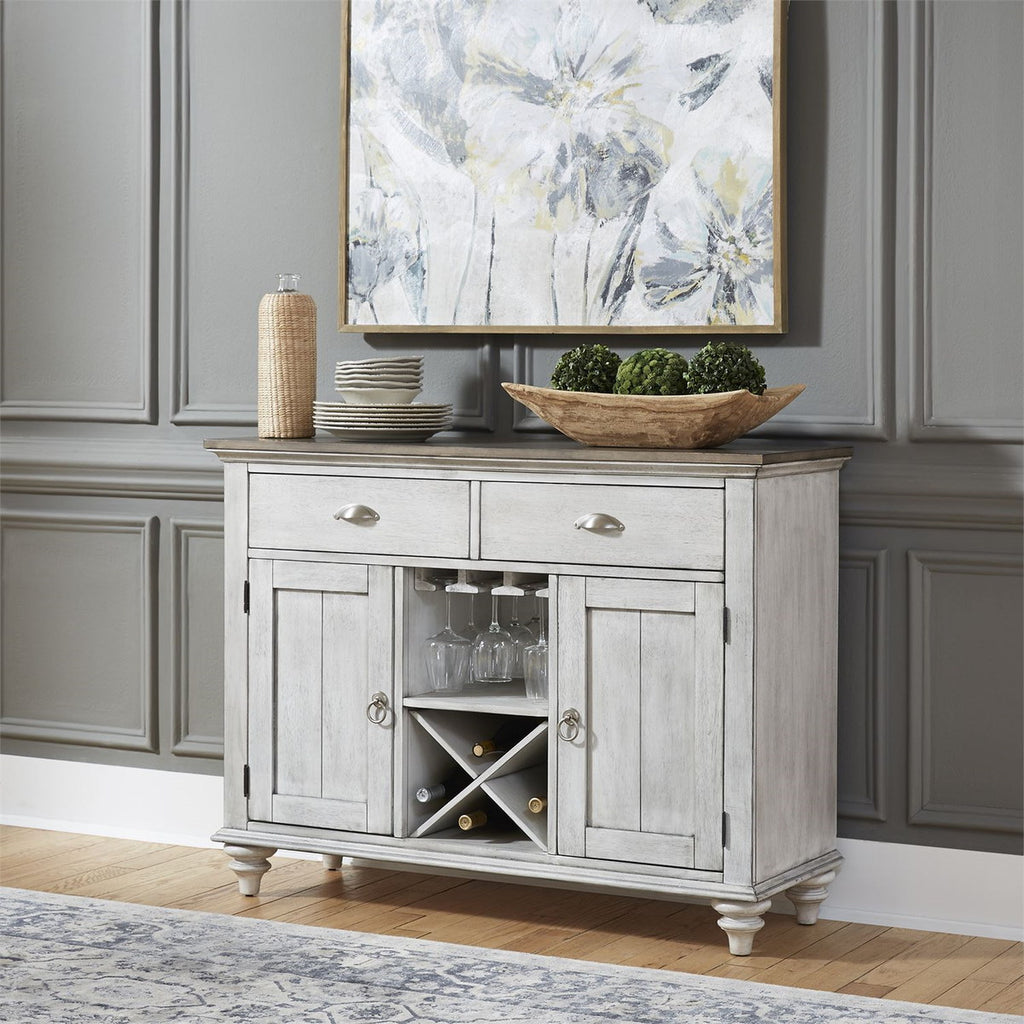 Liberty Furniture Ocean Isle Buffet in Antique White with Weathered Pine 303W-CB4866 image