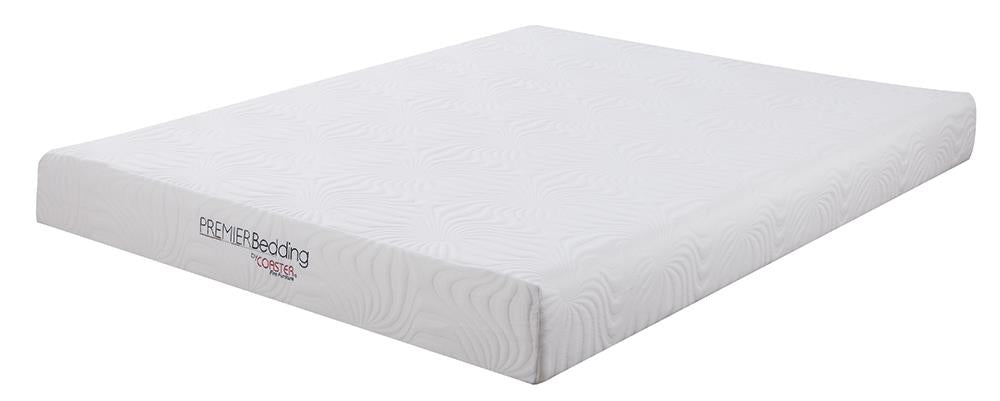 Keegan White 8-Inch Twin Memory Foam Mattress image