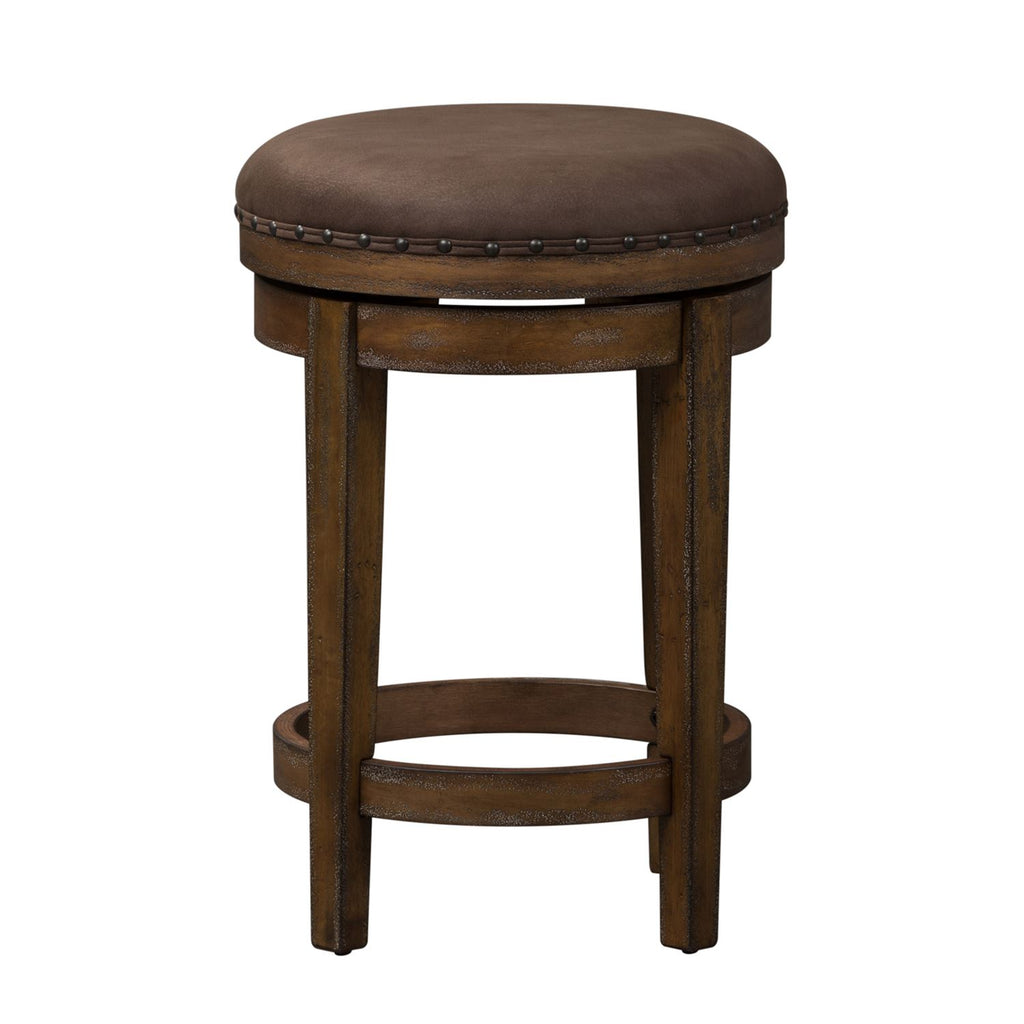 Liberty Aspen Skies Swivel Barstool in Weathered Brown 416-OT9003 image
