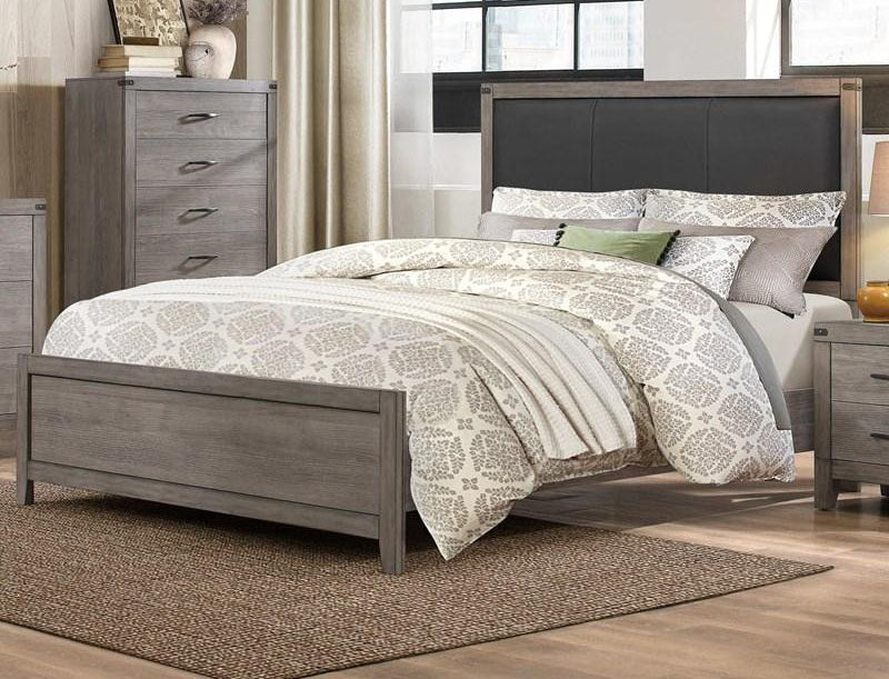 Homelegance Woodrow Queen Panel Bed in Gray 2042-1* image