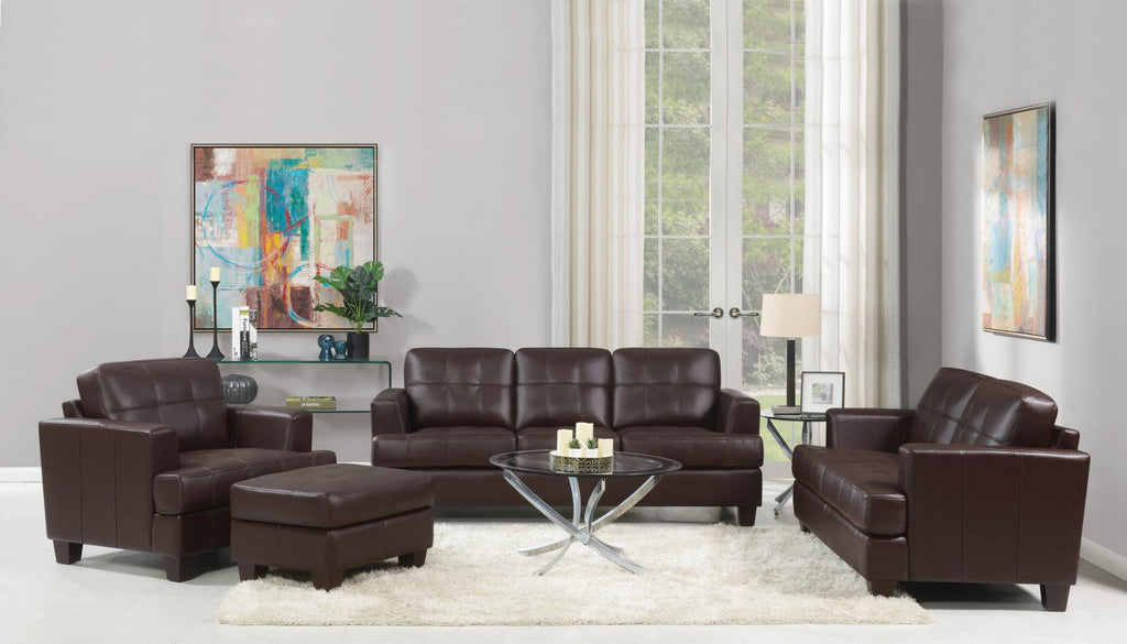 Samuel Transitional Brown Two-Piece Living Room Set image