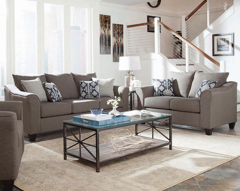 Salizar Transitional Grey Two-Piece Living Room Set image