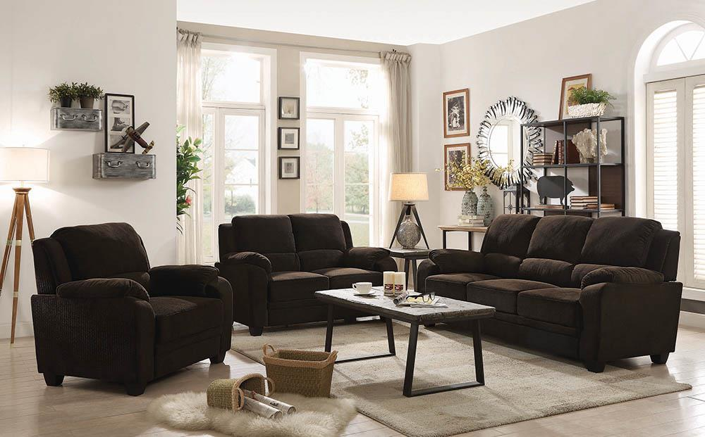 Northend Chocolate Three-Piece Living Room Set image