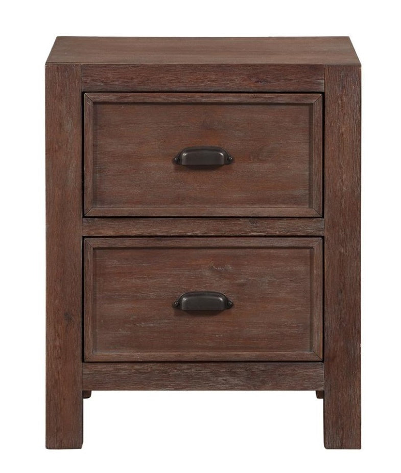 Homelegance Wrangell 2 Drawers Nightstand in Cherry 2055-4 image