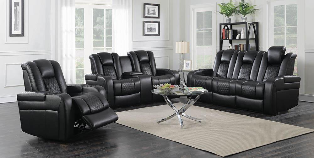 Delangelo Black Power Motion Reclining Loveseat image