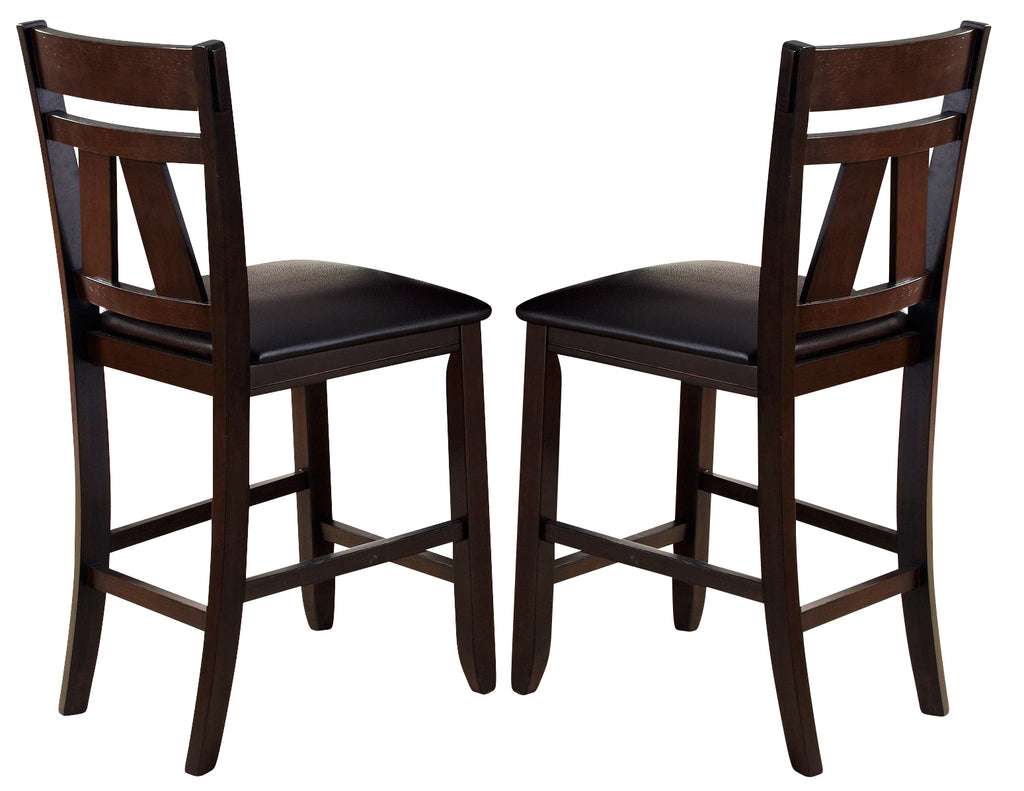 Liberty Furniture Lawson Splat Back Counter Chair (Set of 2) in Light/Dark Expresso 116-B250124 image