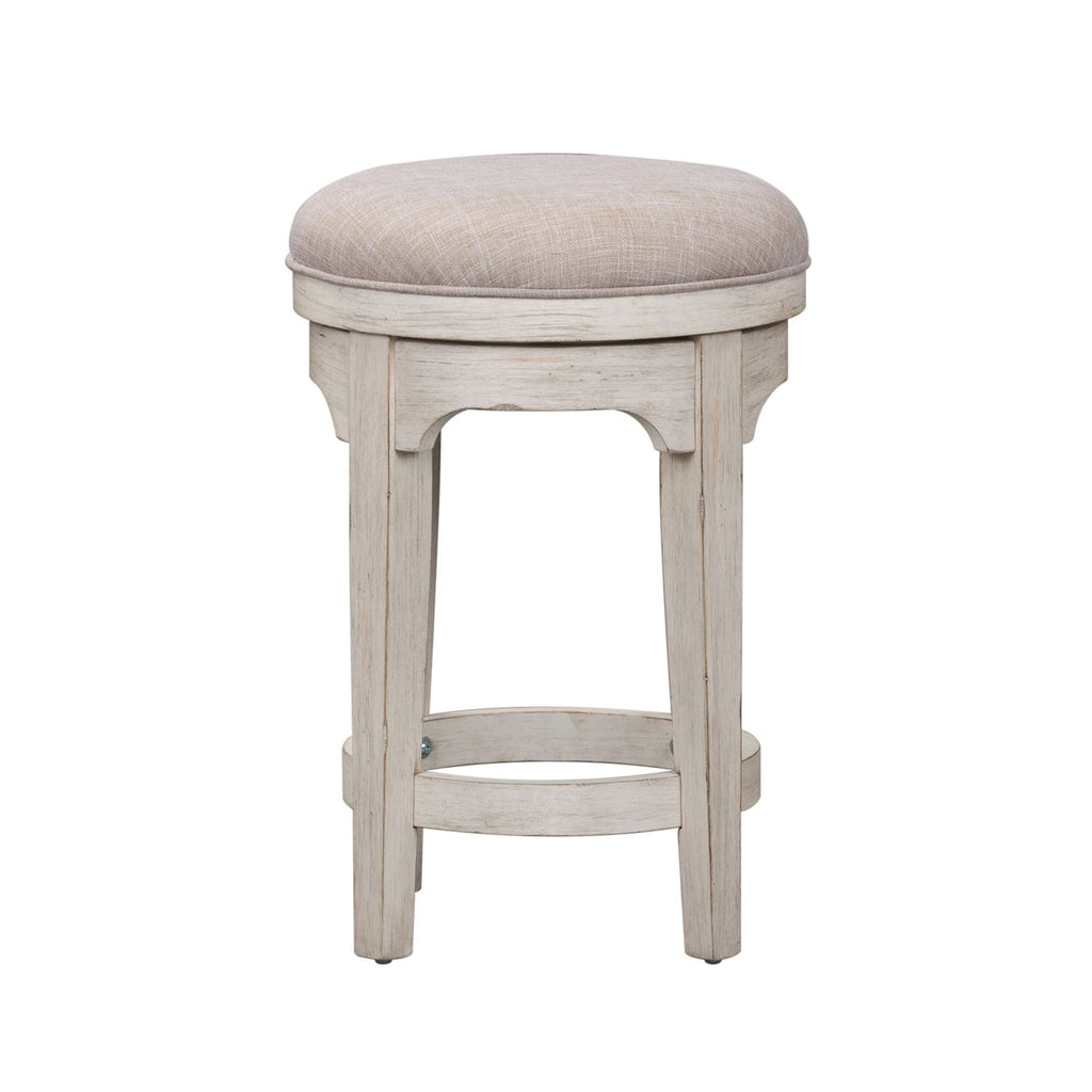 Liberty Farmhouse Reimagined Console Swivel Stool in Antique White 652-OT9003 image