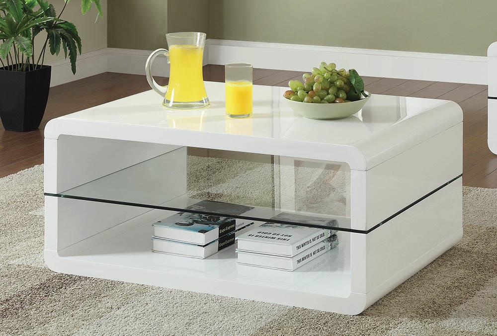 Modern White Coffee Table image