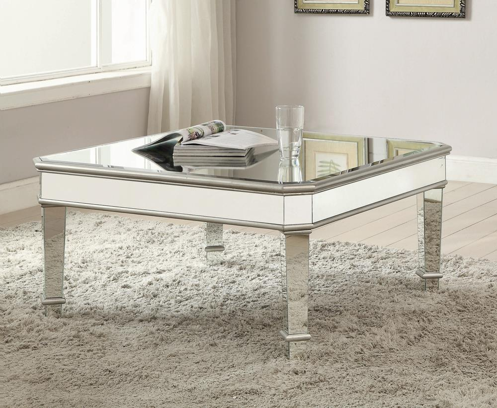 Transitional Silver Coffee Table image