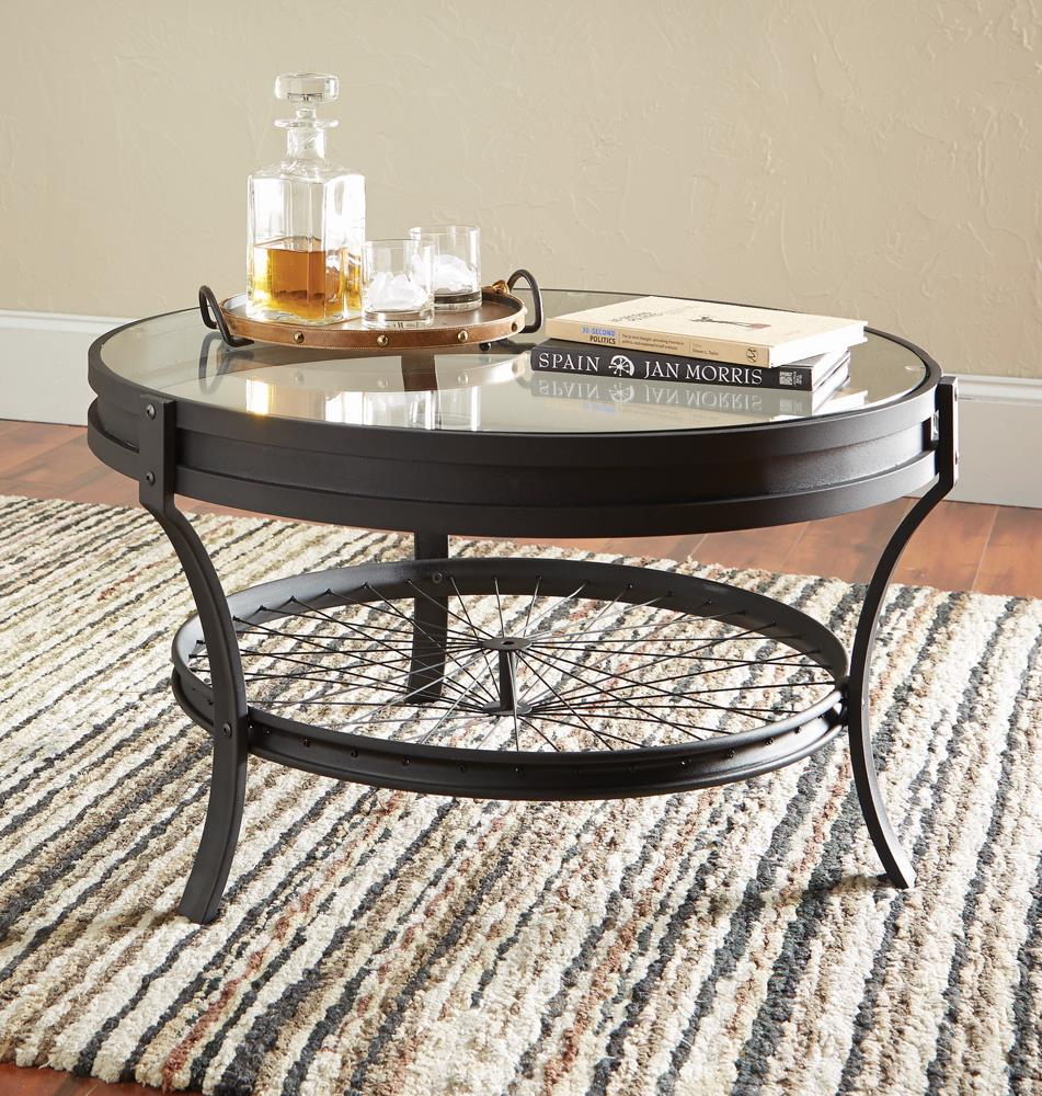 Industrial Black Coffee Table image