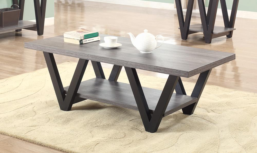 Mid-Century Modern Black Coffee Table image