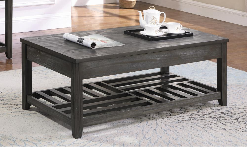 Rustic Grey Lift-Top Coffee Table image
