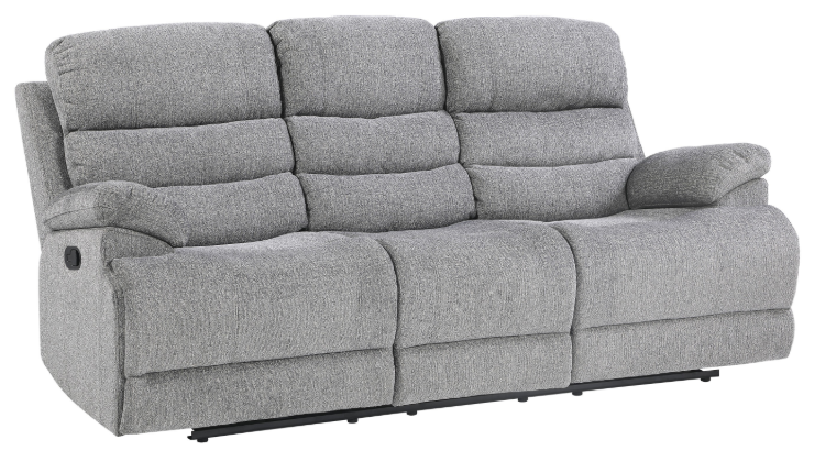 Homelegance Furniture Sherbrook Double Reclining Sofa in Gray 9422FS-3 image