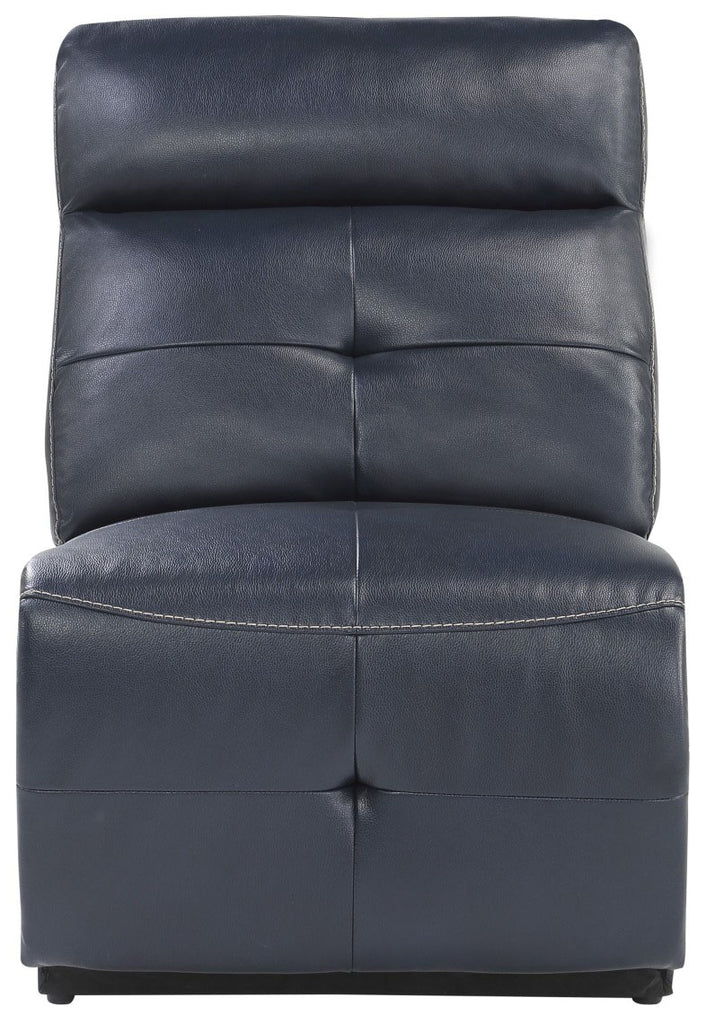 Homelegance Furniture Avenue Armless Reclining Chair in Navy 9469NVB-AR image