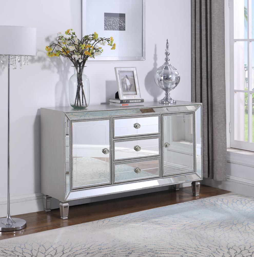 Metallic Platinum Accent Cabinet image