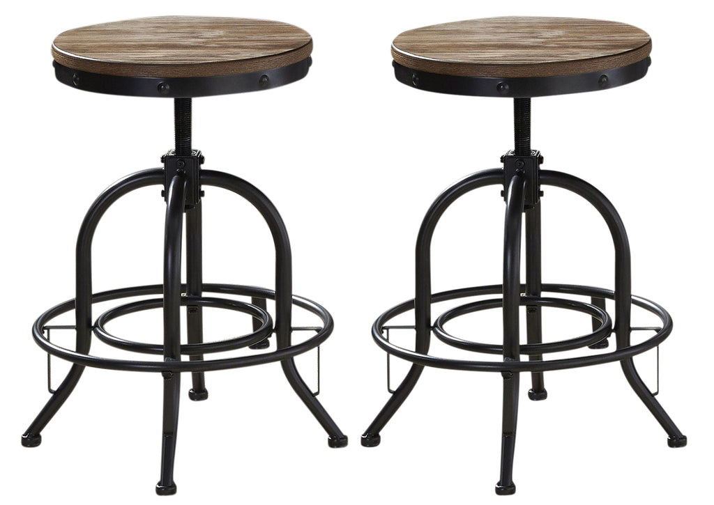 Liberty Furniture Vintage Dining Series Bar Stool in Weathered Gray with Black (Set of 2) 179-B000324 image