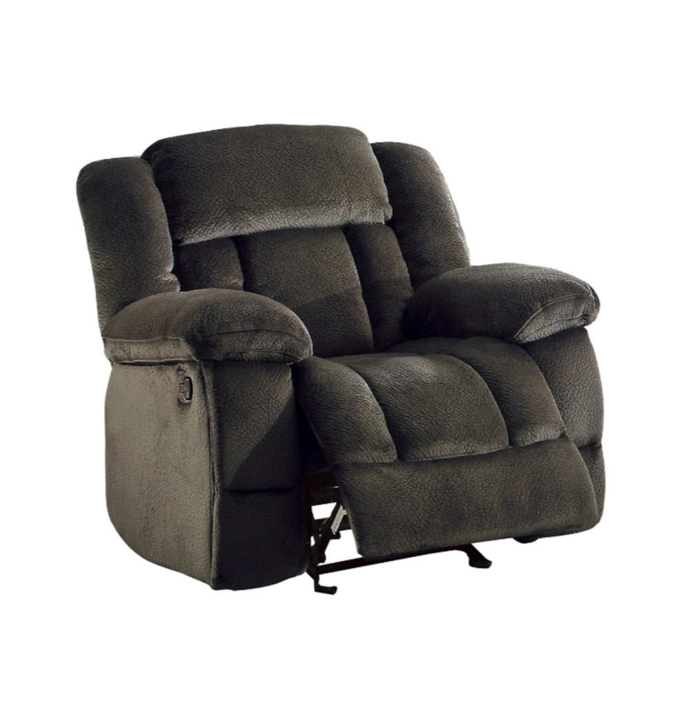 Homelegance Furniture Laurelton Glider Reclining Chair in Chocolate 9636-1 image