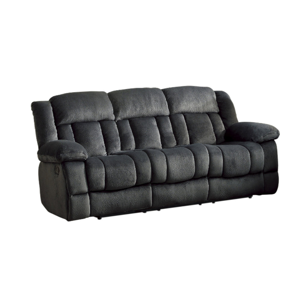 Homelegance Furniture Laurelton Double Reclining Sofa in Charcoal 9636CC-3 image