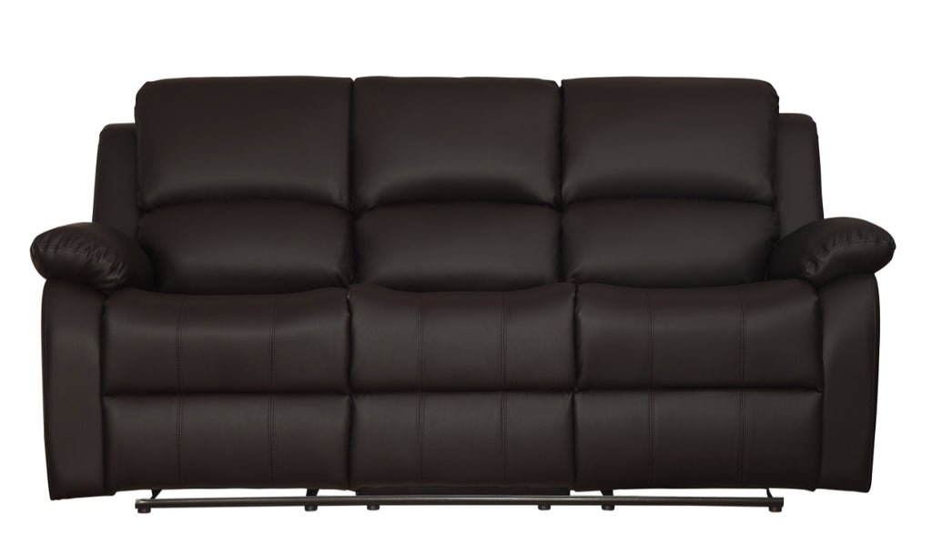Homelegance Furniture Clarkdale Double Reclining Sofa in Dark Brown 9928DBR-3 image