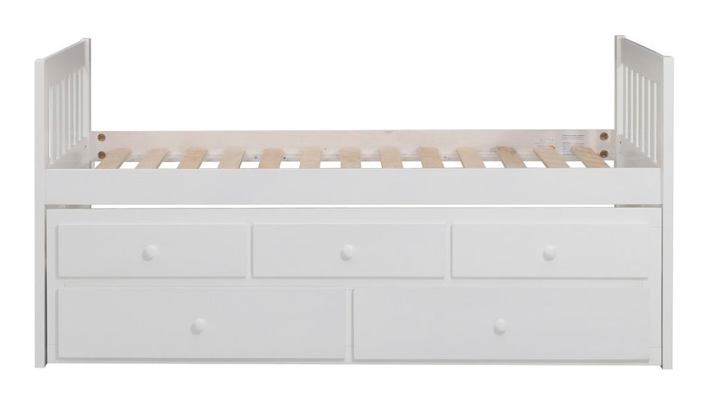 Homelegance Galen Twin/Twin Trundle Bed with Storage in White B2053PRW-1* image
