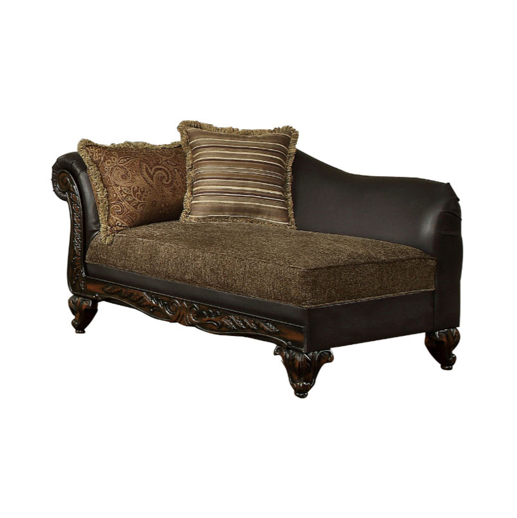 Homelegance Furniture Thibodaux Chaise in Brown 8233TT-5 image
